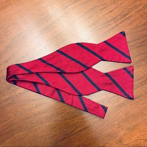 """Brooks Brothers """"Makers"""" Bow Tie Red & Blue Stripe"""